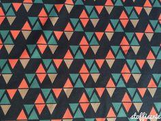 Bio-Stoffe - SWAFING ORGANIC JERSEY Dreiecken auf Dunkel Blau - ein Designerstück von stoffiserie bei DaWanda