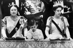 Prince Charles and the Queen Mother at Queen Elizabeth II Coronation 1953