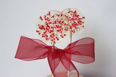 Heart Favors Love Lollipops Wedding Favors by SweetCarolineConfect