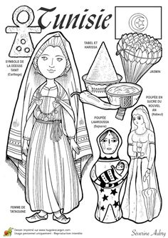 Coloriages (French) colouring pages of children (in traditional dress) all around the world Around The World In 80 Days, People Of The World, Countries Of The World, World Cultures, Colouring Pages, Coloring Books, Aubry, Geography For Kids, World Thinking Day