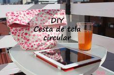 DIY Cesta de tela circular | Manualidades