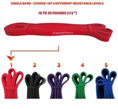 Red - Single Band - WODFitters Assisted Pull-up Resistance Band for Cross Fitness Training and Power-lifting (Single Band) * Ideal for Assisted Pull Ups, Chin Ups or Power Lifting Assisted Pull Ups, Resistance Loop Bands, 35 Pounds, Chin Up, Running Workouts, Powerlifting, Cross Fitness, Coupon Organization, Jamberry