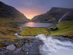 Magic sunset after rain, Streymoy, Faroe Islands.