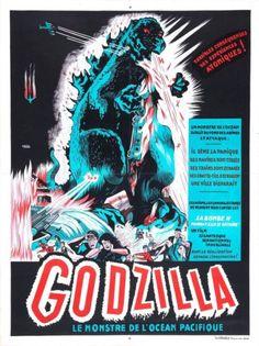 Vintage Retro Reproduction Movie A3 Godzilla 1954 v9 Cult Monster Film Print | eBay