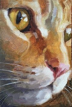 Portfolio of Works: Pets/Commissions - Cats are Art - by Katya Minkina Oil ~ 6 x 4 - Cat Fountain, Galaxy Painting, Body Painting, Watercolor Cat, Beginner Painting, Fine Art Gallery, Animal Paintings, Pet Portraits, Cat Art