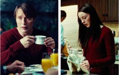 hannibal lecter and abigail hobbs having matching murder sweaters i can't