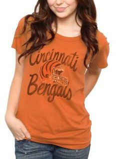 New Junk Food NFL Collection! Cincinnati Bengals tee for women $32 www.junkfoodclothing.com