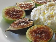 Fig Brulee with Burrata Cheese. Full recipe on : http://foodwishes.blogspot.ro/2011/09/fig-brulee-with-burrata-cheese-lets.html