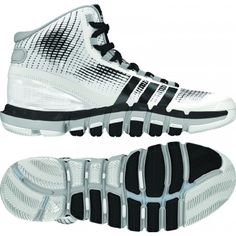 Adidas Adipure CrazyQuick Mens Basketball Shoe Q33302 White/Black/Silver