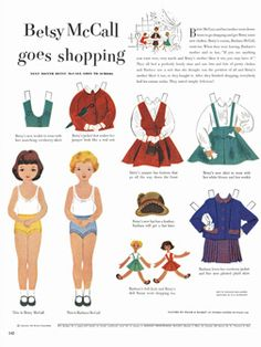 Betsy McCall: the first 10 years. I can't wait to print out these scans of vintage paper dolls!