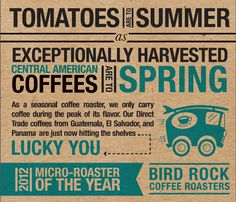 Spring is here!  New seasonal coffees on the way!  Longer hours in #littleitalysd  what a beautiful season