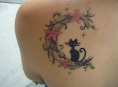 Only the best free Cat Crescent Moon Tattoo tattoo's you can find online! Cat Crescent Moon Tattoo tattoo's to print off and take to your tattoo artist. Moon Tattoo Designs, Tattoo Designs For Women, Tattoos For Women, Cute Cat Tattoo, I Tattoo, Tattoo Moon, Body Art Tattoos, New Tattoos, Pink Flower Tattoos