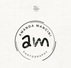 This listing is for a creative distressed logo design, perfect for any modern photography business. * You can personalise with your