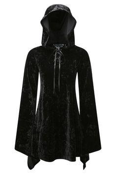 Velvet Witch Hood Dress [B] | KILLSTAR