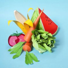 Paper art food -- really cool 3-D project