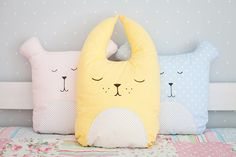 Sweet dreams pillow Sleeping soft bunny Nursery decor Bunny pillow Fanny pillow Cushion Pillow Hare Kids gift idea Kids decor Baby bedding