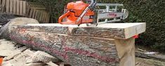 how to make a chainsaw mill - Google Search Portable Chainsaw Mill, Firewood, Google Search, How To Make, Woodburning