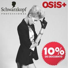 Crea tu propio estilo, con la línea de fijación Osis de Schwarzkopf Professional. Ahora lo tienes más fácil con el 10% de descuento adicional directo tanto a público como a profesional, que te ofrece esta prestigiosa firma. Disponible en nuestras tiendas del 27 de Marzo al 19 de Abril. #sienteschwarzkopf