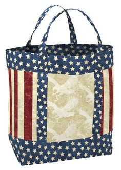 692d5a999898b Stars and Stripes Purse - Tote Bag KIT    Patriotic Handbag Kit     Stonehenge Fabric