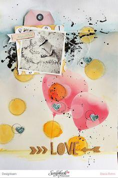 DT SCrapbook Werkstatt - Crate Paper - Poolside + Journey - Layout von Diana Rohm