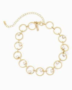 Women's Circle Choker Pearl Necklace by WHBM