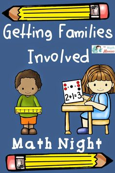 Lots of ideas for hosting a family math night at your school! If you don& currently host one of these, they are a great way to get families excited about math and to get your message out to parents! Elementary Math, Kindergarten Math, Teaching Math, Creative Teaching, Preschool, Fun Math, Math Games, Math Activities, Math Resources