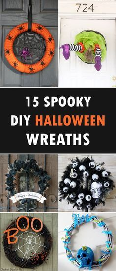 15 Spooky DIY Halloween Wreaths For Your Front Door