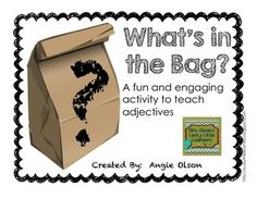 Adjective Mystery Bags-FREEBIE!!!!  I used this game in my classroom today and my kids had a blast!  Enjoy!!
