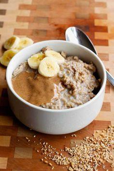 Clean Eating Peanut Butter Banana Slow Cooker Oatmeal