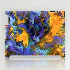Abstract Floral  iPad Case by SuzyQ - $60.00
