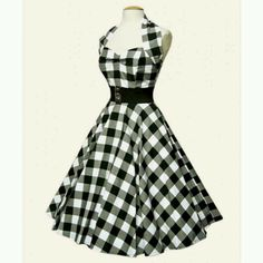 1950s cloths | 1950s halter dress | Fashion