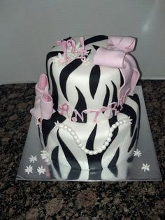 Pink n zebra birthday