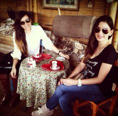 Sis with a GREAT cup of coffee ☕️☕️