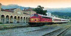 Railway station Pejë - passenger train to Pristina - KOSOVO -2014