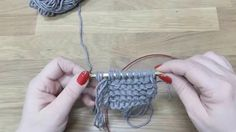 Navajo technika pletení z trojité příze, Navajo knitting