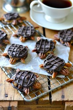 Vegan Chocolate Turtles - Fork  Beans