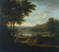 Classical Landscape by George Lambert, 1745. Tate.