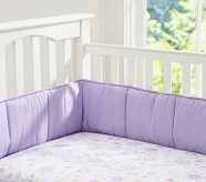 Daisy Garden Crib Fitted Sheet, Lavender
