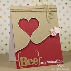 "valentines day card.  or you could put thanks for ""bee"" ing my friend"