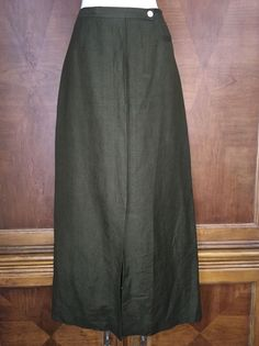 371f07cbe9ec 12 Emma James Olive Green Long Straight Pencil Skirt Linen Rayon Button  Front 10 #fashion #clothing #shoes #accessories #womensclothing #skirts  (ebay link)