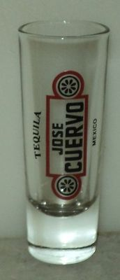 Tequila Jose Cuervo Mexico Shot Glass Shooter Black Red Logo Barware  ~ This Item is for sale at LB General Store http://stores.ebay.com/LB-General-Store ~Free Domestic Shipping ~