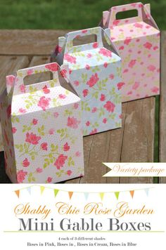Shabby Chic Favor Boxes