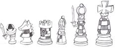 Chess Pieces EXE by RaijinKarate on DeviantArt King Chess Piece, Chess Pieces, Chess Piece Tattoo, Pieces Tattoo, Chess Logo, Chess Quotes, Chess Strategies, Aztec Tattoo Designs, Illustration Art