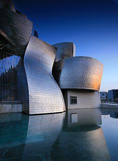 Guggenheim Museum, Bilbao, Spain. Saw it once... Only from the outside! How frustrating! Have to get back there some time...