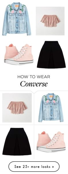 """Untitled #132"" by fashionfreakyforreal on Polyvore featuring Miu Miu, Converse and Abercrombie & Fitch"