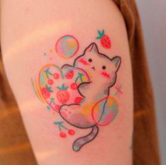 Dream Tattoos, Future Tattoos, Little Tattoos, Small Tattoos, Pretty Tattoos, Cool Tattoos, Kawaii Tattoo, Aesthetic Tattoo, Rainbow Aesthetic