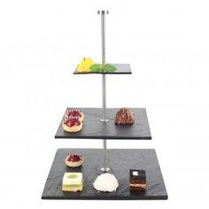 #design3000 Schiefer Etagere Gourmet mit Kreidestift und Schwamm.