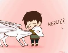 Merlin and Arthur's baby dragon!!