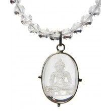 Semi Precious Crystal Buddha Necklace