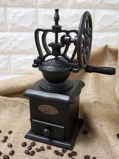 15 Incredible Coffee Grinder Hand Held Coffee Grinders Non Electric Best Coffee Grinder, Manual Coffee Grinder, Coffee Grinders, Coffee Is Life, Coffee Shop, Le Moulin, Coffee Roasting, Jar Storage, Vintage Wood